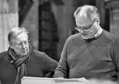 Accompanist Chris Hinkins and MD Crauford Thomson discuss the finer details._s